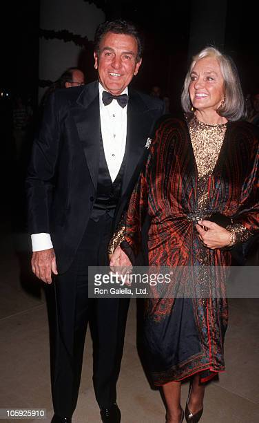 Mike Connors and Marylou Connors during Society of Singers December 3 1990 at Beverly Hilton Hotel in Beverly Hills California United States