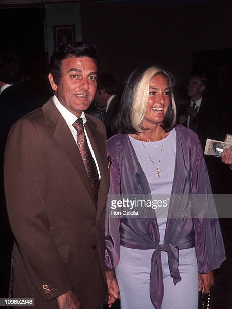 Mike Connors and Marylou Connors during Sportsman Lodge Luncheon January 1 1977 at Sportsman Lodge in Los Angeles California United States