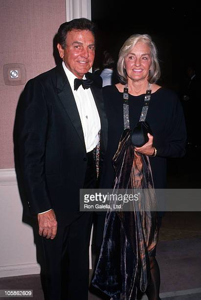 Mike Connors and Marylou Connors during US Marshals Dinner 1992 at Beverly Hilton Hotel in Beverly Hills California United States