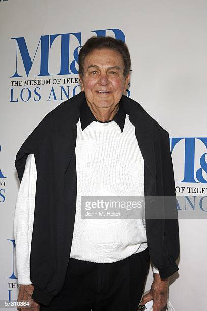 Mike Connors arrives at the Fourth Annual Museum of Television Radio Celebrity Golf Classic at the Riviera Country Club on April 10 2006 in Pacific...