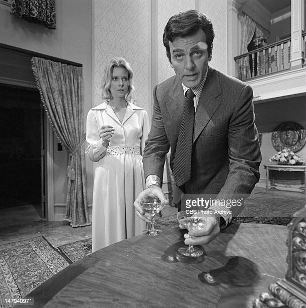 Mike Connors as Joe Mannix and Rosemary Forsyth as Leslie Fielding in the MANNIX episode Dark so Early Dark so Long Image dated May 11 1971