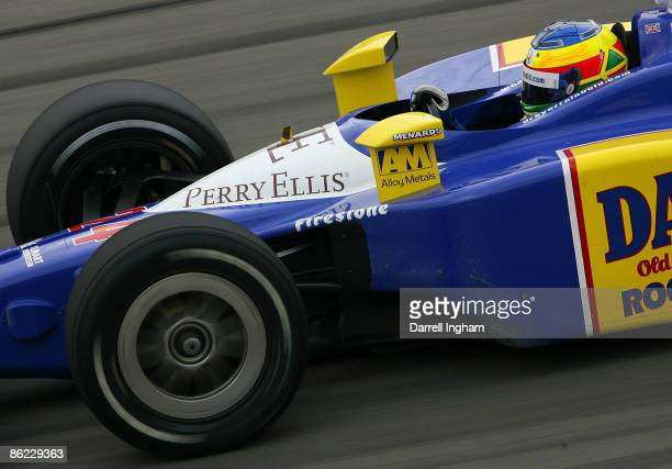 Mike Conway drives the Dreyer and Reinbold Racing Dallara Honda during the IRL IndyCar Series Road Runner Turbo Indy 300 on April 26 2009 at the...
