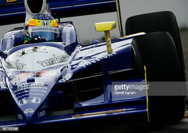 Mike Conway drives the Dreyer Reinbold Dallara Honda during practice for the IRL IndyCar Series Honda Grand Prix of St Petersburg on April 3 2009 on...