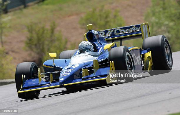 Mike Conway of England driver of the Dreyer Reinbold Racing Dallara Honda races through turn one during practice for the IRL IndyCar Series Grand...