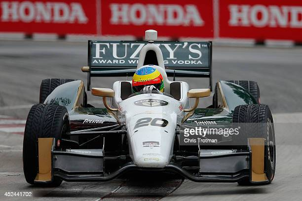 Mike Conway of England drives the Ed Carpenter Racing Dallara Chevrolet during the Verizon IndyCar Series Honda Indy Toronto Race 2 on the Streets of...