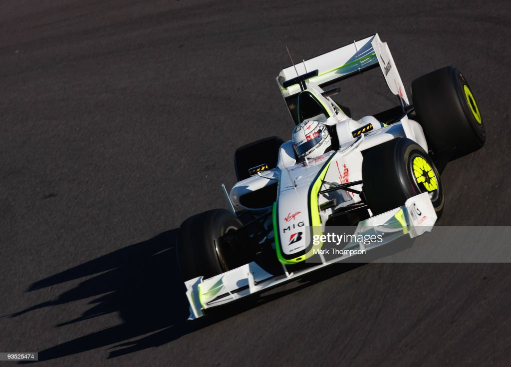 Mike Conway of Great Britain and team Brawn GP in action at the Circuito De Jerez on December 1, 2009 in Jerez de la Frontera, Spain.