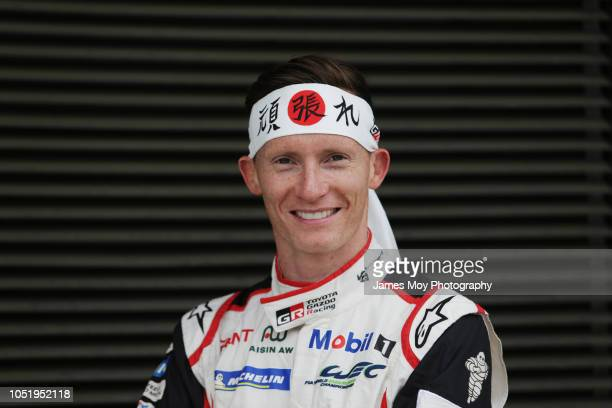 Mike Conway of Great Britain and Toyota Gazoo Racing during preparations at Fuji International Speedway on October 12, 2018 in Fuji, Japan.