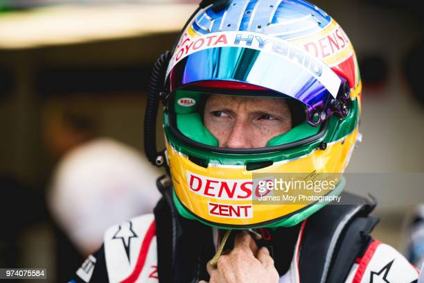Mike Conway of Great Britain and Toyota Gazoo Racing during Practice for the Le Mans 24 Hour Race on June 13, 2018 in Le Mans, France.