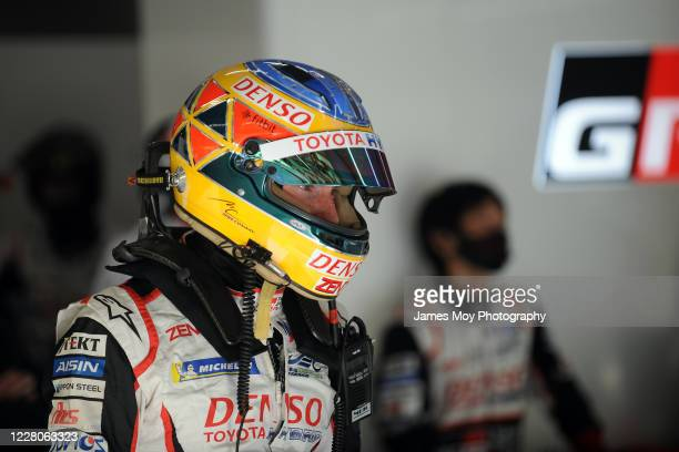 Mike Conway of Great Britain and Toyota Gazoo Racing in the pits during the race at Spa Francorchamps on August 15, 2020 in Spa, Liege.