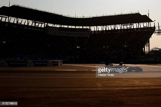 Mike Conway of Great Britain and Venturi Formula E Team during the Mexico City Formula E Championship 2016 at Autodromo Hermanos Rodriguez on...