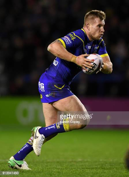 Mike Cooper of Warrington during the Betfred Super League match between Warrington Wolves and Leeds Rhinos on February 1 2018 in Warrington England