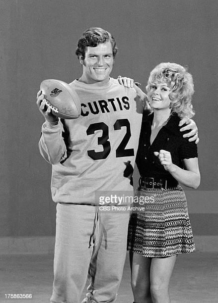Mike Curtis and Sue Ane Langdon on the SECOND SUPER COMEDY BOWL Image dated November 22 1971 Original air date January 12 1972
