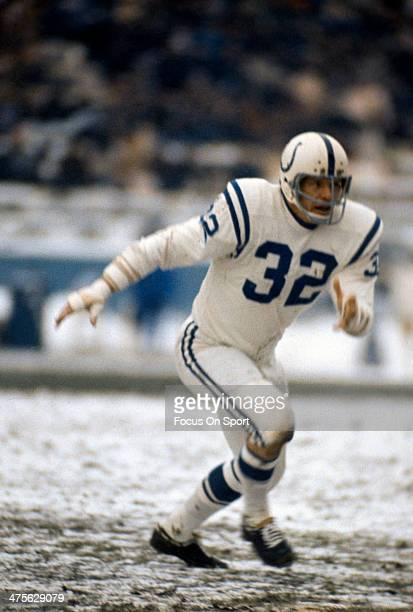 Mike Curtis of the Baltimore Colts in action during an NFL Football game circa 1971 Curtis played for the Colts from 196575