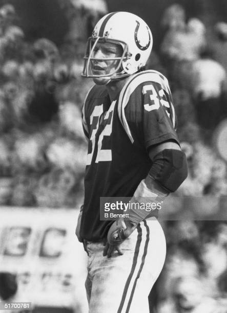 Mike Curtis of the Baltimore Colts looks on during an NFL game Mike Curtis played in the NFL from 196575