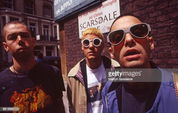 Mike D and Ad-Rock of the Beastie Boys, group portrait, London, 1993.