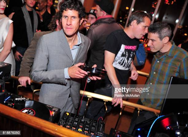 Mike D and Shepard Fairey attend NOWNESS Presents the New York Premiere of JeanMichel Basquiat The Radiant Child at MoMa on April 27 2010 in New York...