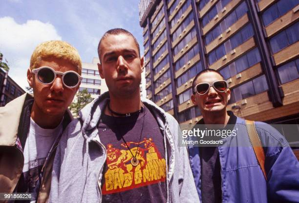 Mike D , MCA and Ad-Rock of the Beastie Boys, group portrait, London, 1993.