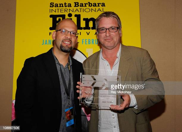 Mike Dallatorre and Winner of The Panavision Spirit Award for Independent Cinema Face to Face Director Michael Rymer attends the Awards Press...