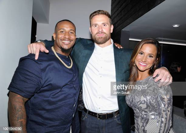 Mike Daniels Chris Long and Dianna Russini attend HEROES at The ESPYS at City Market Social House on July 17 2018 in Los Angeles California