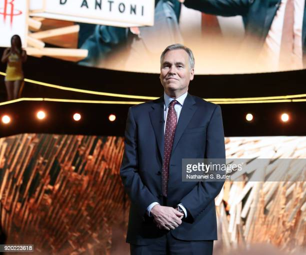 Mike D'Antoni of Team Stephen is introduced before the NBA AllStar Game as a part of 2018 NBA AllStar Weekend at STAPLES Center on February 18 2018...