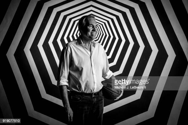 Mike D'Antoni of the Houston Rockets poses for a portrait as part of the 2018 NBA AllStar Weekend on February 16 2018 at the Mariott in Los Angeles...
