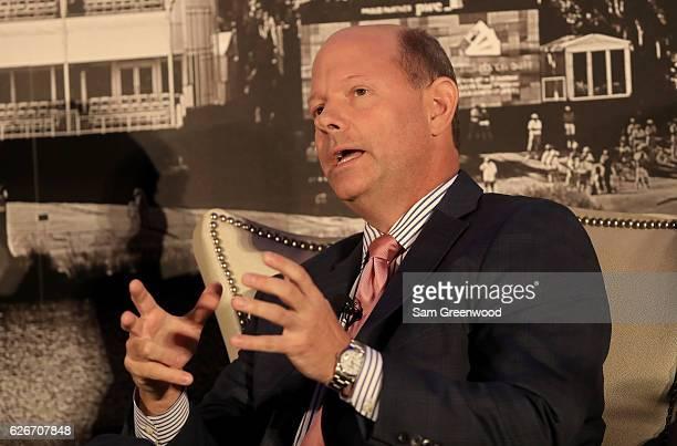 Mike Davis, Executive Director of USGA, speaks during the HSBC Golf Business Forum on November 30, 2016 in Ponte Vedra Beach, Florida.