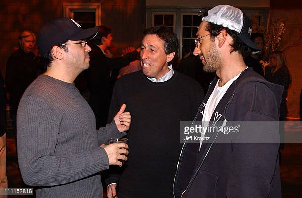 """Mike DeLuca, Ivan Reitman & Todd Phillips during """"Old School"""" - Wrap Party for Dreamworks Pictures new film in Glendale, California, United States."""