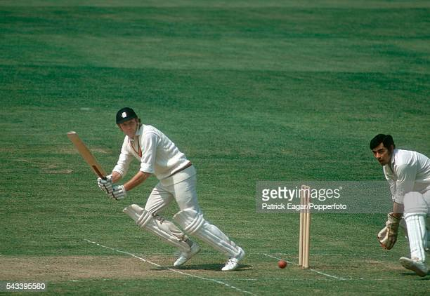 Mike Denness batting for Marylebone Cricket Club during the tour match between MCC and India at Lord's Cricket Ground London 18th May 1974 The...