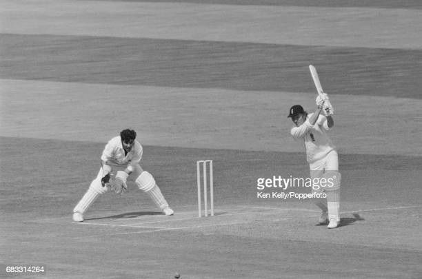 Mike Denness of England batting during his innings of 100 in the 3rd Test match between England and India at Edgbaston Birmingham 6th July 1974 The...