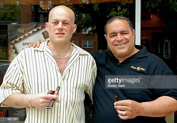 Mike DeRago and Joseph Gannascoli during Joseph Gannascoli of 'The Sopranos' Autograph Signing at Nero's Cigars at Nero's Cigars in Haddonfield New...