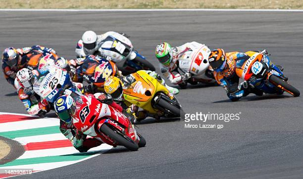 Mike Di Meglio of France and S/Master Speed Up leads the field during the MotoGP of Italy at Mugello Circuit on July 15 2012 in Scarperia Italy