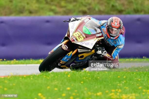 Mike Di Meglio of Italy and EG 0 0 Marco VDS during the MotoGp of Austria MotorE Race at Red Bull Ring on August 11 2019 in Spielberg Austria