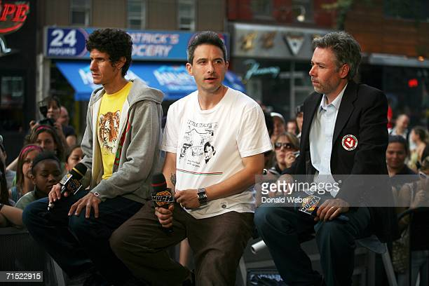 Mike Diamond Adam Horovitz and Adam Yauch of the Beastie Boys appear live on Canadian music television to promote their new concert film July 26 in...