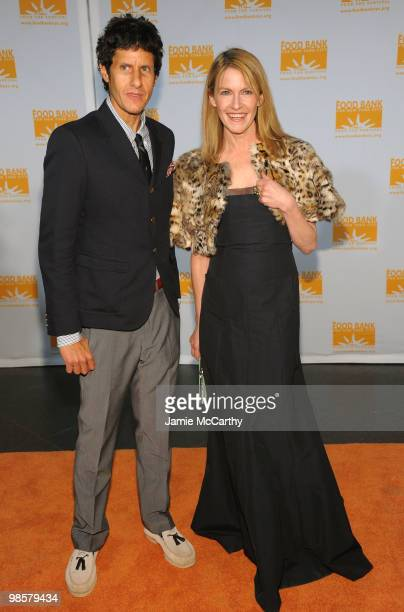 Mike Diamond of The Beastie Boys and Jane Pratt attend the Food Bank for New York City's 8th Annual CanDo Awards dinner at Abigail Kirsch�s Pier...