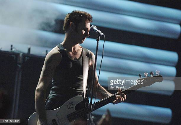 Mike Dirnt of Green Day during 2005 MTV VMA Rehearsals Day 2 at American Airlines Arena in Miami Florida United States
