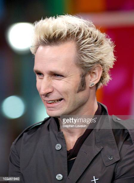 Mike Dirnt of Green Day during Green Day Gavin Degraw and the Cast of One Tree Hill visit MTV's TRL November 1 2004 at MTV Studios Times Square in...