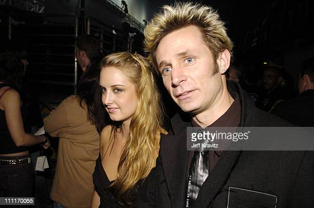 Mike Dirnt of Green Day during Spike TV's 2nd Annual Video Game Awards 2004 Backstage at Barker Hangar in Santa Monica California United States