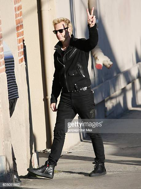 Mike Dirnt of Green Day is seen on November 21 2016 in Los Angeles