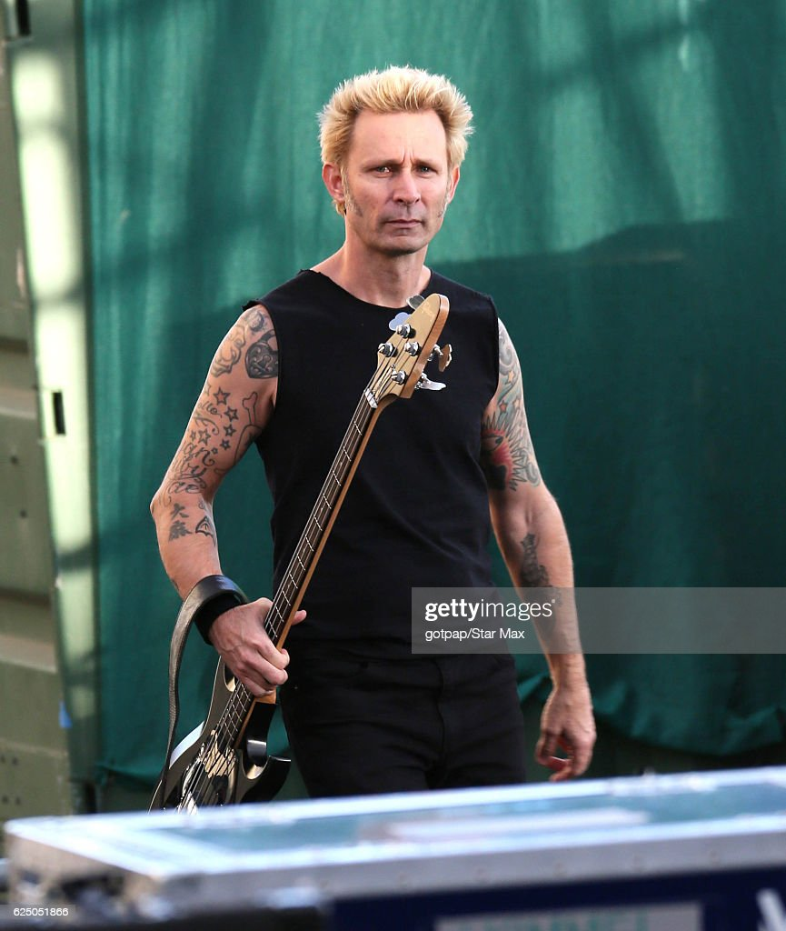 Mike Dirnt of 'Green Day' is seen on November 21, 2016 in Los Angeles.