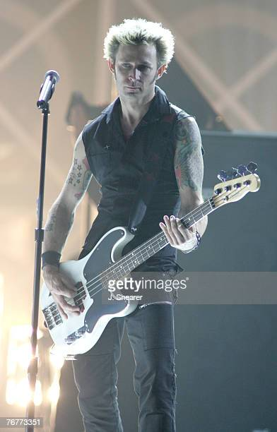Mike Dirnt of Green Day performs Boulevard of Broken Dreams