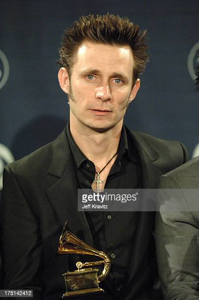 Mike Dirnt of Green Day winners of Record Of The Year for Boulevard Of Broken Dreams