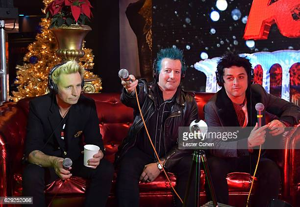 mike dirnt tre cool and billie joe armstrong of the band green day attend 1067 kroq - Green Day Christmas