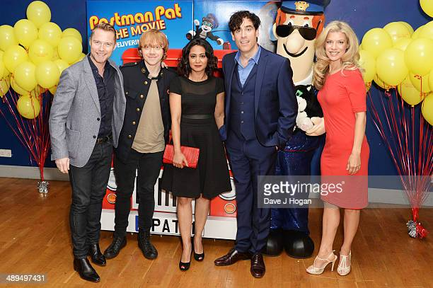 Mike Disa Ronan Keating Rupert Grint PArminder Nagra and Stephen Mangan attend the UK premiere of 'Postman Pat' at the Odeon West End on May 11 2014...