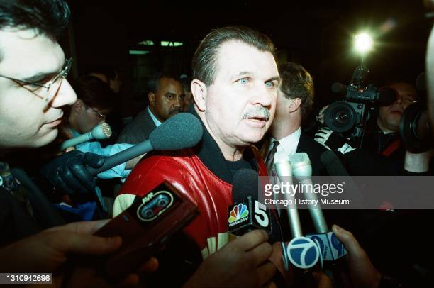 Mike Ditka, after being fired, at Halas Hall, 1920 Football Drive, Lake Forest, Illinois, January 5, 1993.