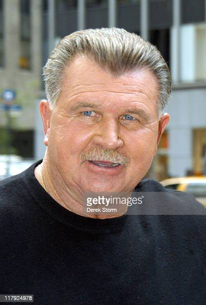 """Mike Ditka during Mike Ditka and Tony Dorset Appear on """"Fox & Friends"""" - September 14, 2004 at Fox Studios in New York City, New York, United States."""