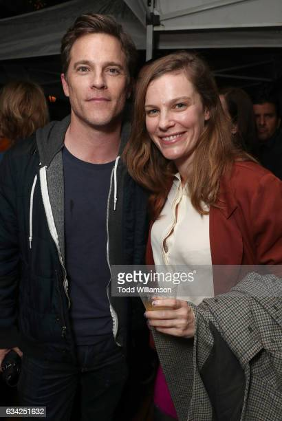 Mike Doyle and Lindsay Burdge attend the 'XX' Los Angeles Premiere at Cinefamily on February 7 2017 in Los Angeles California