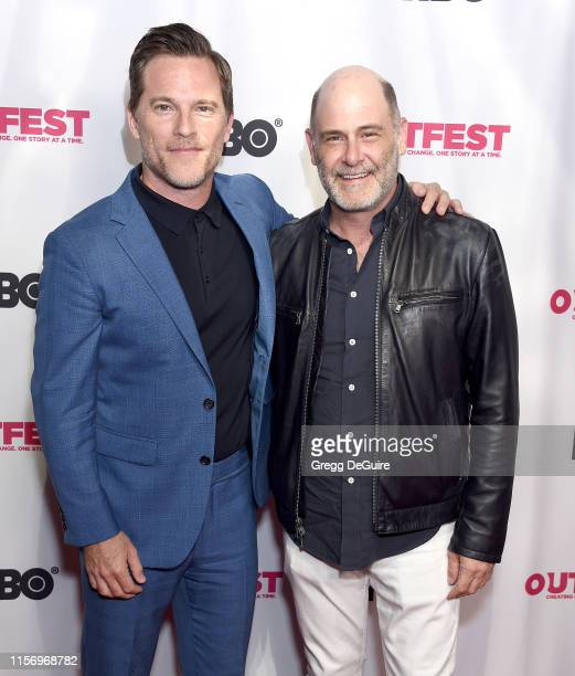 Mike Doyle and Matthew Weiner attend the 2019 Outfest Los Angeles LGBTQ Film Festival Screening Of Sell By at TCL Chinese Theatre on July 20 2019 in...