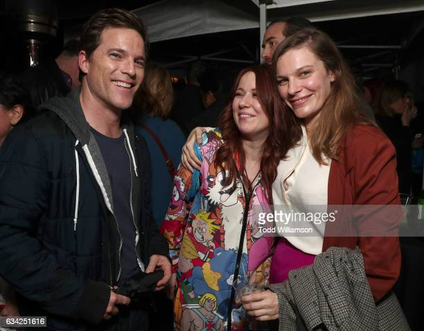 Mike Doyle Roxanne Benjamin and Lindsay Burdge attend the 'XX' Los Angeles Premiere at Cinefamily on February 7 2017 in Los Angeles California