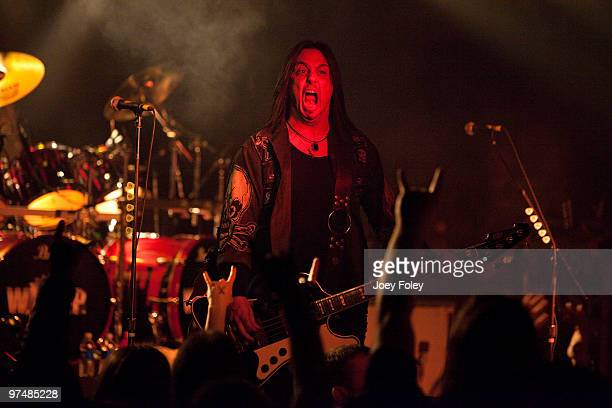 Mike Duda of WASP performs in front of a sold out crowd at the Alrosa Villa on March 5 2010 in Columbus Ohio