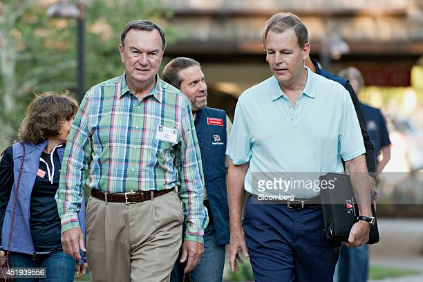 Mike Duke chairman of the WalMart Stores Inc executive committee and chief executive officer of WalMart Stores from 2009 to 2014 left walks the...